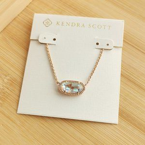 Kendra Scott Elisa Rose Gold Necklace In Dichroic